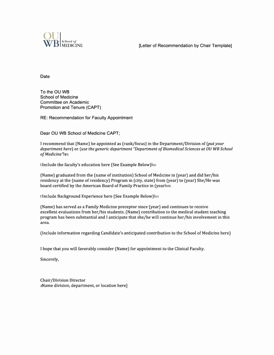 Letters Of Recommendation format Samples Best Of Template Template for Letters Re Mendations