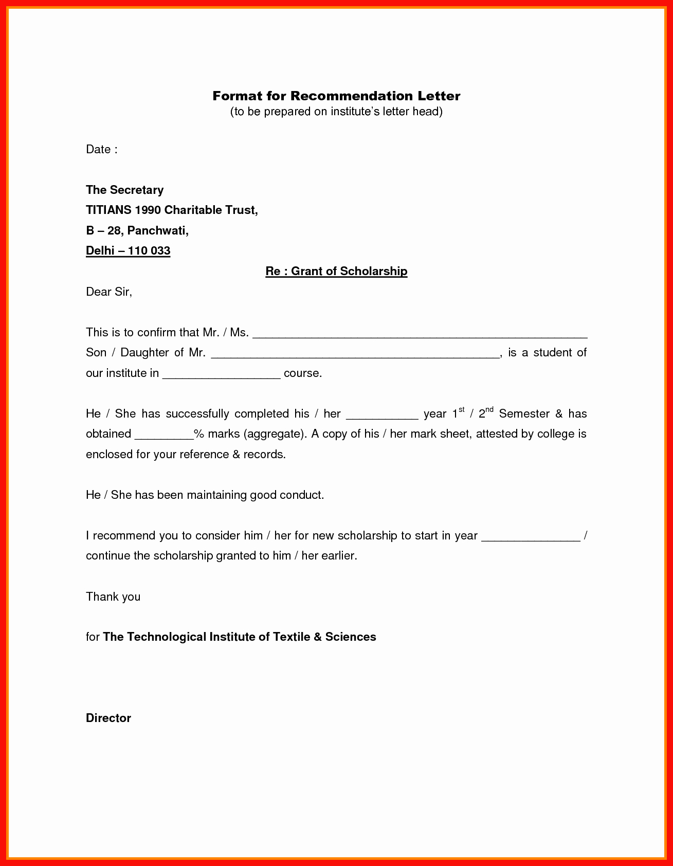 Letters Of Recommendation format Samples Fresh Reference Letter Heading