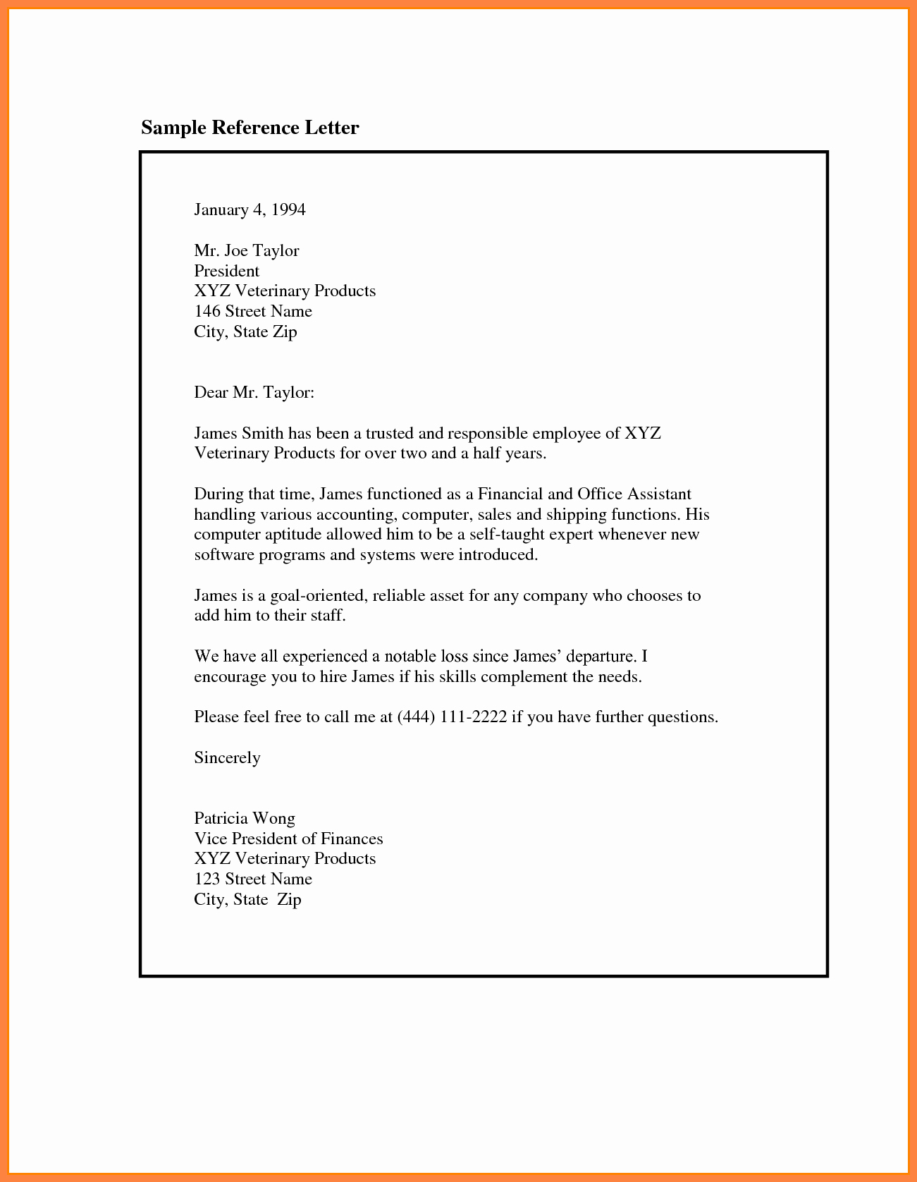 Letters Of Reference for Employees Fresh 9 Re Mendation Letter for Employee