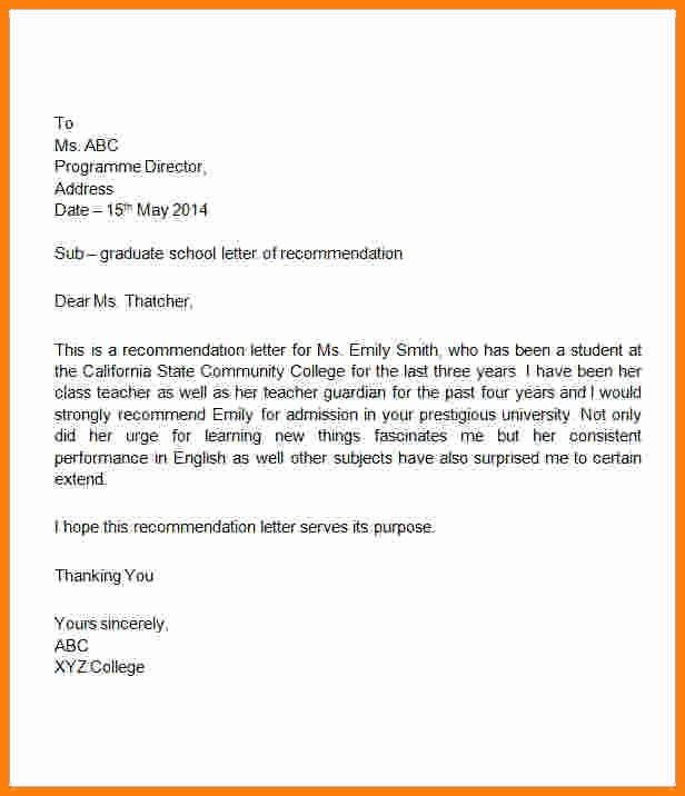 Letters Of Reference for Students Lovely 10 Job Re Mendation Letter for Student