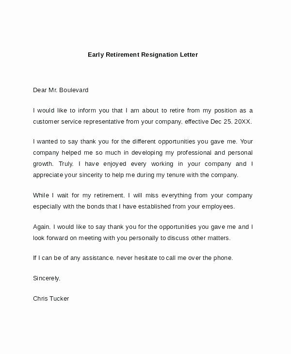 Gallery Of Letters Resignation For Retirement Best 10 Sample Free