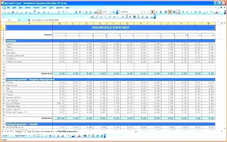 Line Item Budget Template Excel Awesome Line Item Bud Template format formula Word Grant