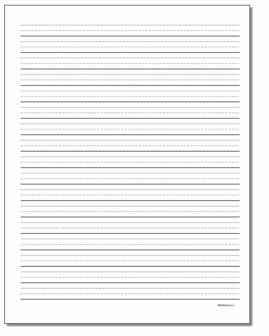 Lined Paper for Handwriting Practice Awesome Printable Handwriting Paper