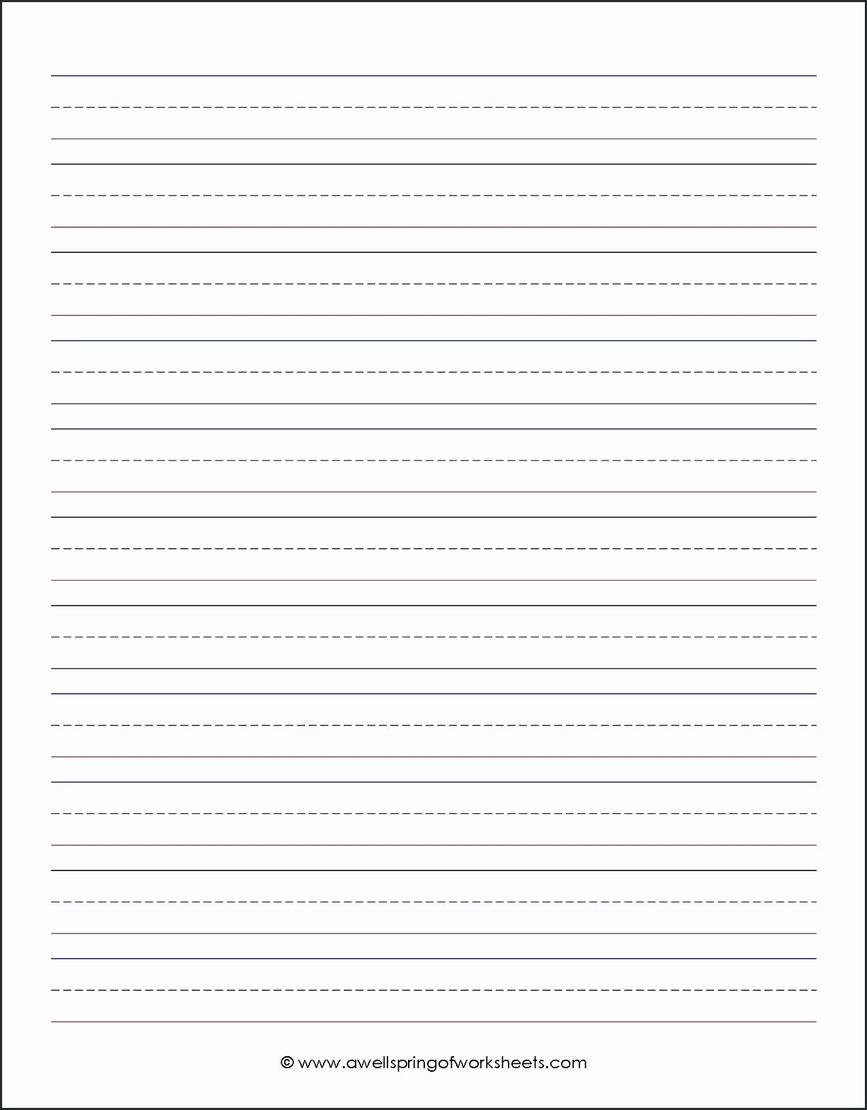 Lined Paper for Handwriting Practice Awesome Worksheet Handwriting Worksheets Blank