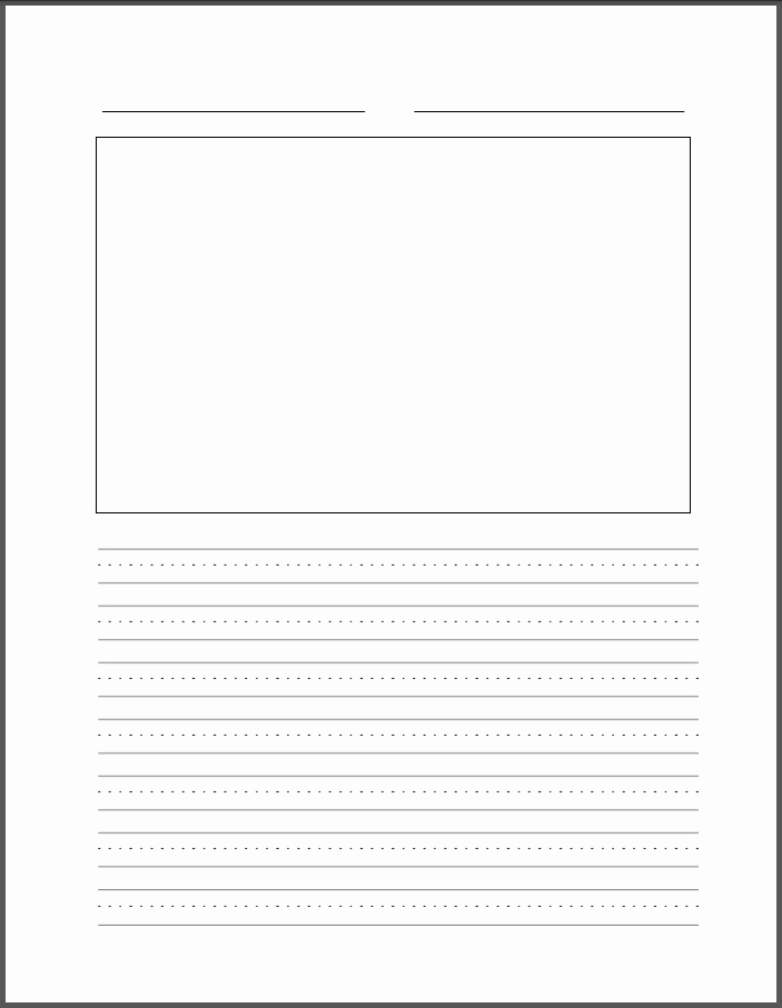 Lined Paper for Handwriting Practice Best Of Four Line Writing Paper Printable Printable Pages