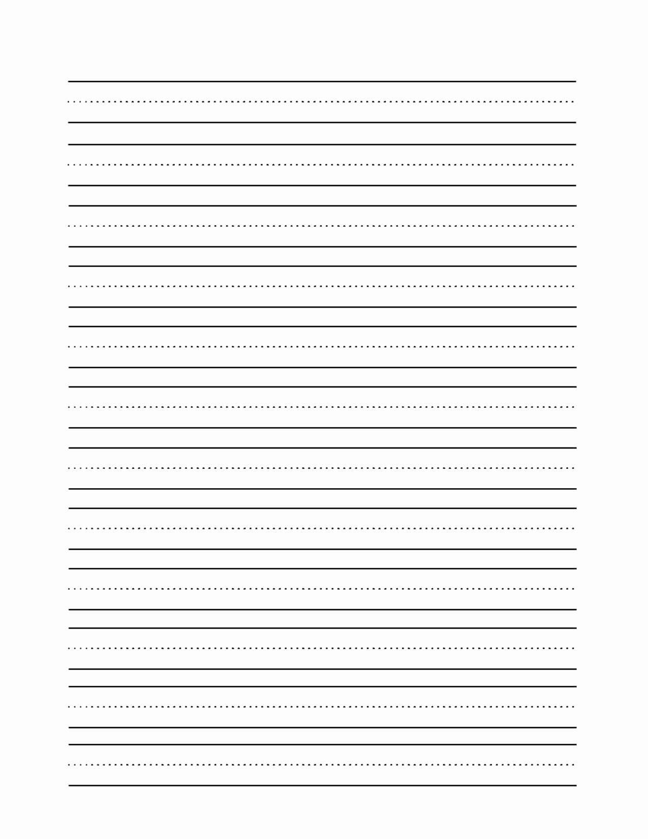 Lined Paper for Handwriting Practice Fresh 11 Best Of Blank Writing Worksheets Blank Writing