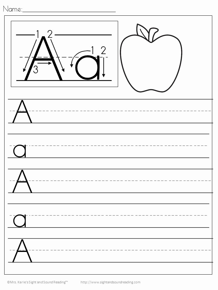 Lined Paper for Handwriting Practice Fresh Free Printable Preschool Alphabet Handwriting Worksheets