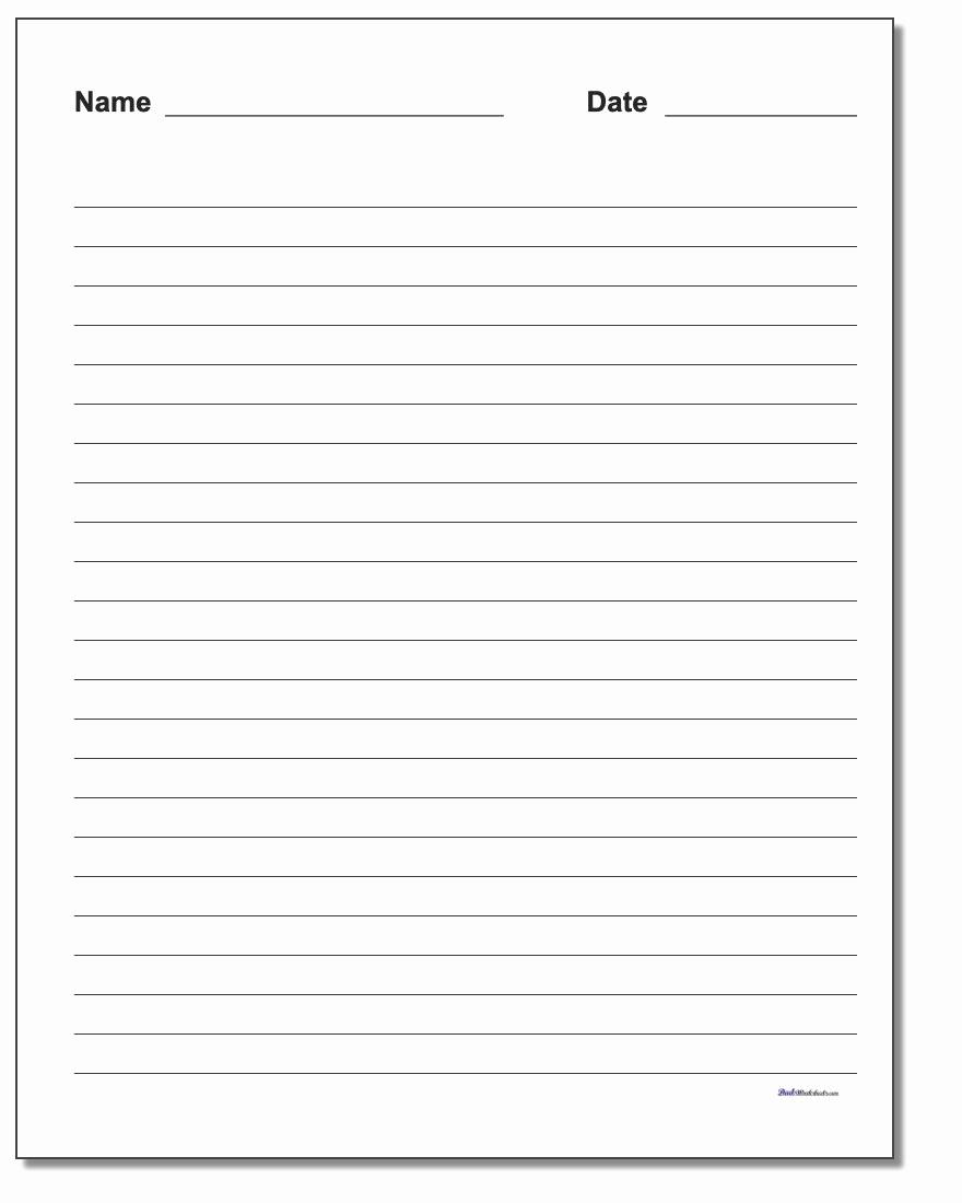 Lined Paper for Handwriting Practice Inspirational Handwriting Paper