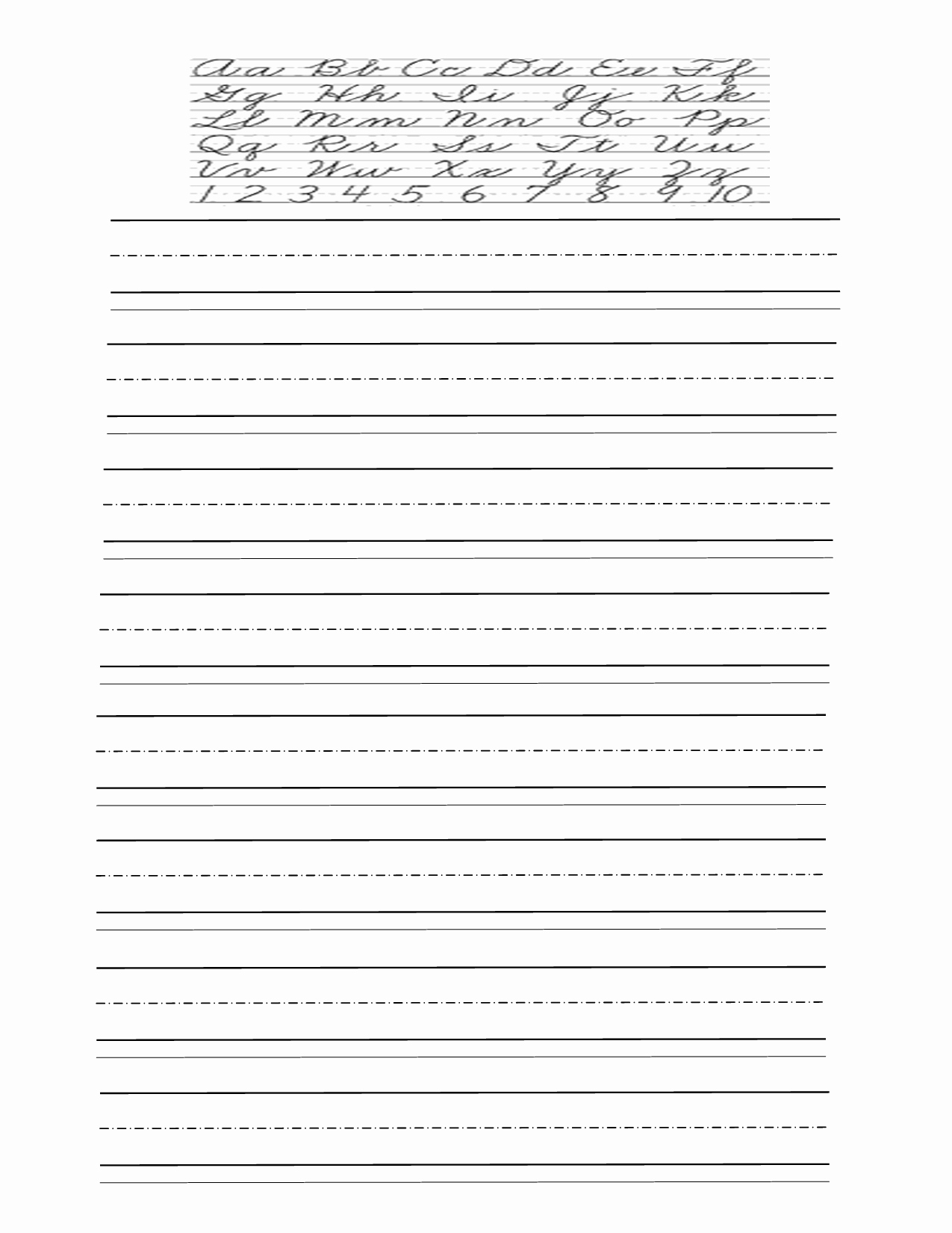 Lined Paper for Handwriting Practice New 11 Best Of Cursive Handwriting Worksheets for 3rd