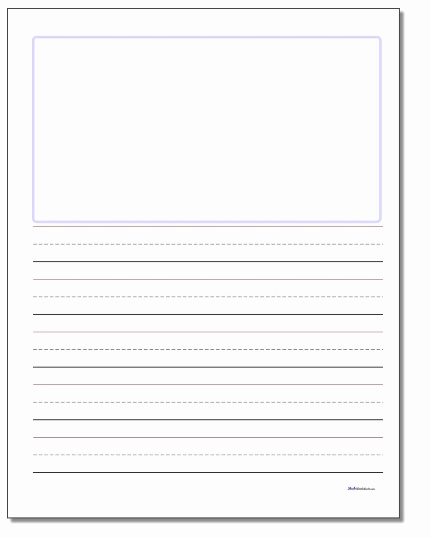 Lined Paper for Handwriting Practice New Blank top Handwriting Paper