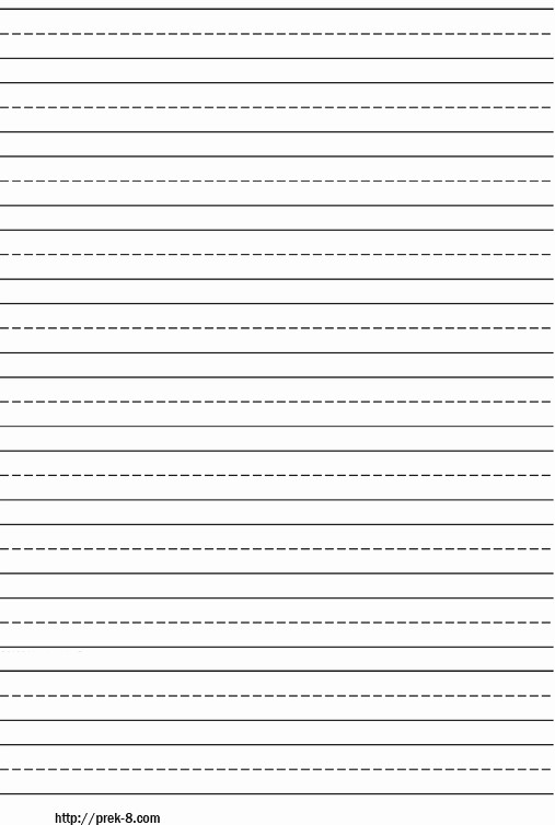 Lined Paper for Handwriting Practice Unique 13 Best Of Printable Practice Writing Sentences