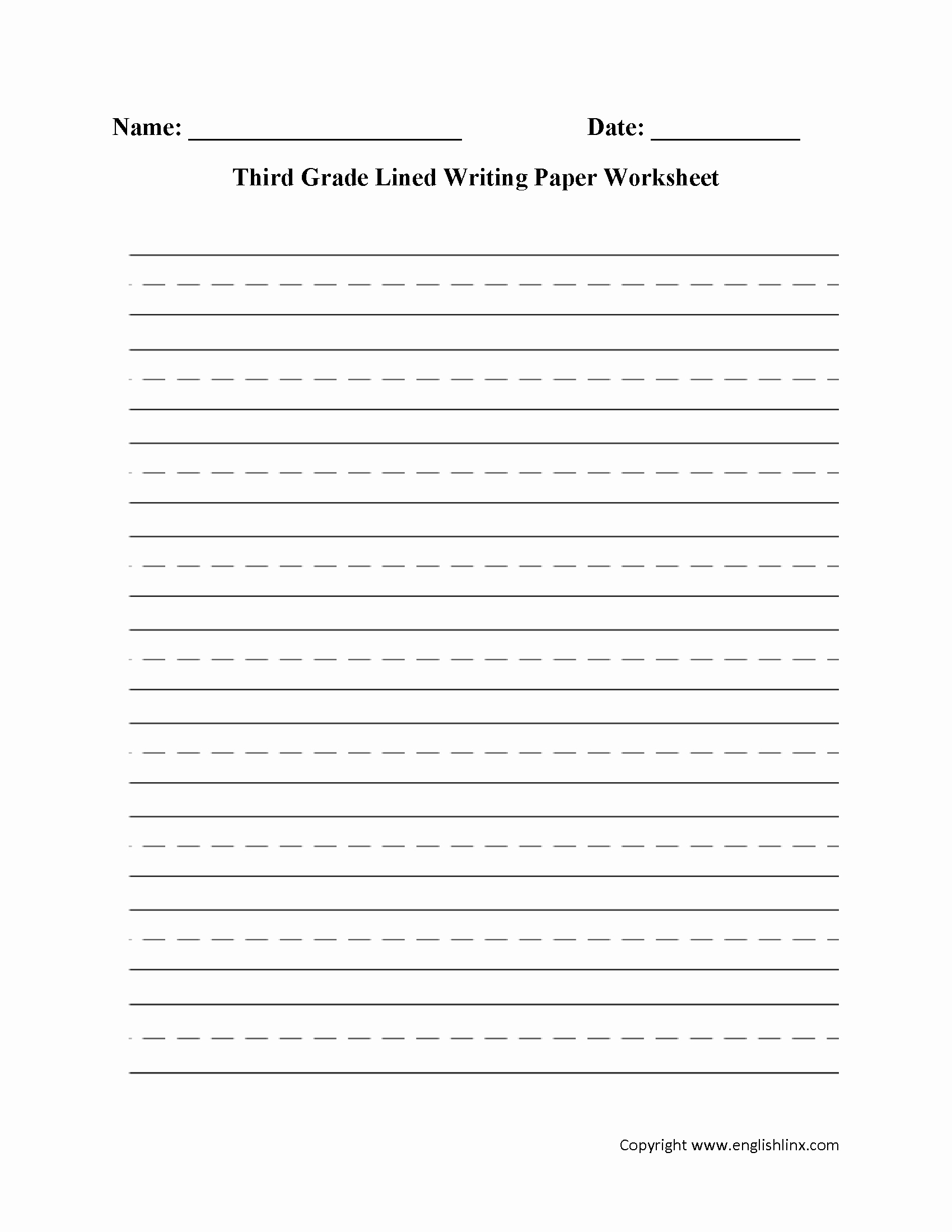 Lined Sheets for Handwriting Practice Elegant 15 Best Of Long Lined Paper Worksheets 4th Grade