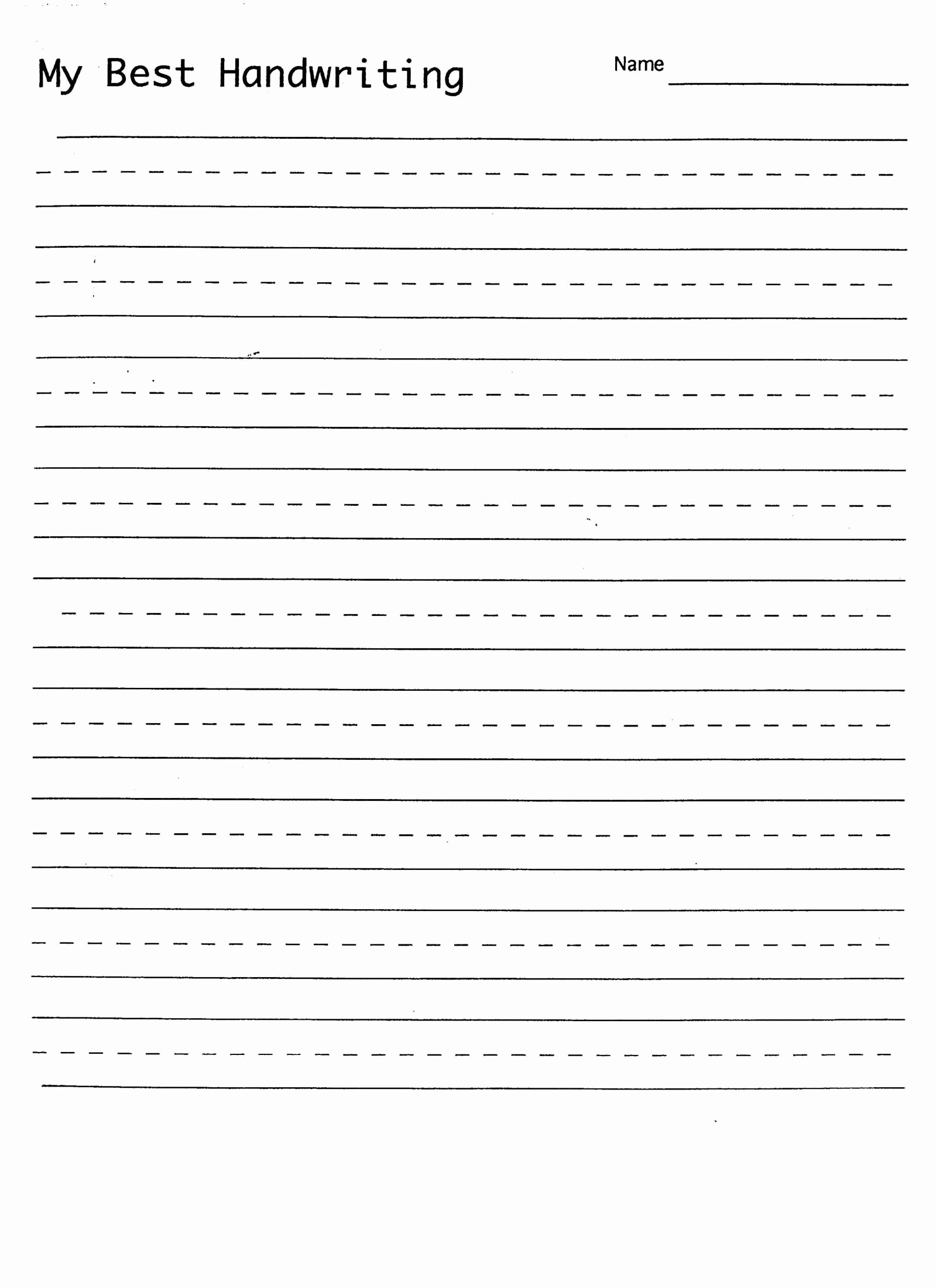 Lined Sheets for Handwriting Practice Fresh Handwriting Practice Sheet Child Education
