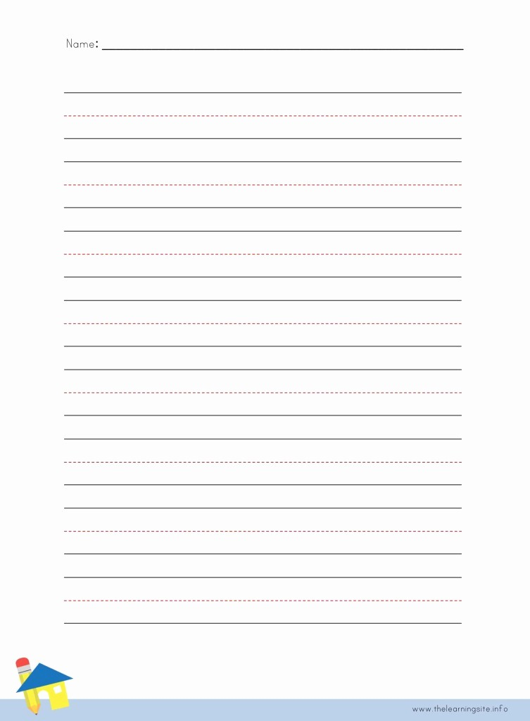 Lined Sheets for Handwriting Practice Fresh the Learning Site