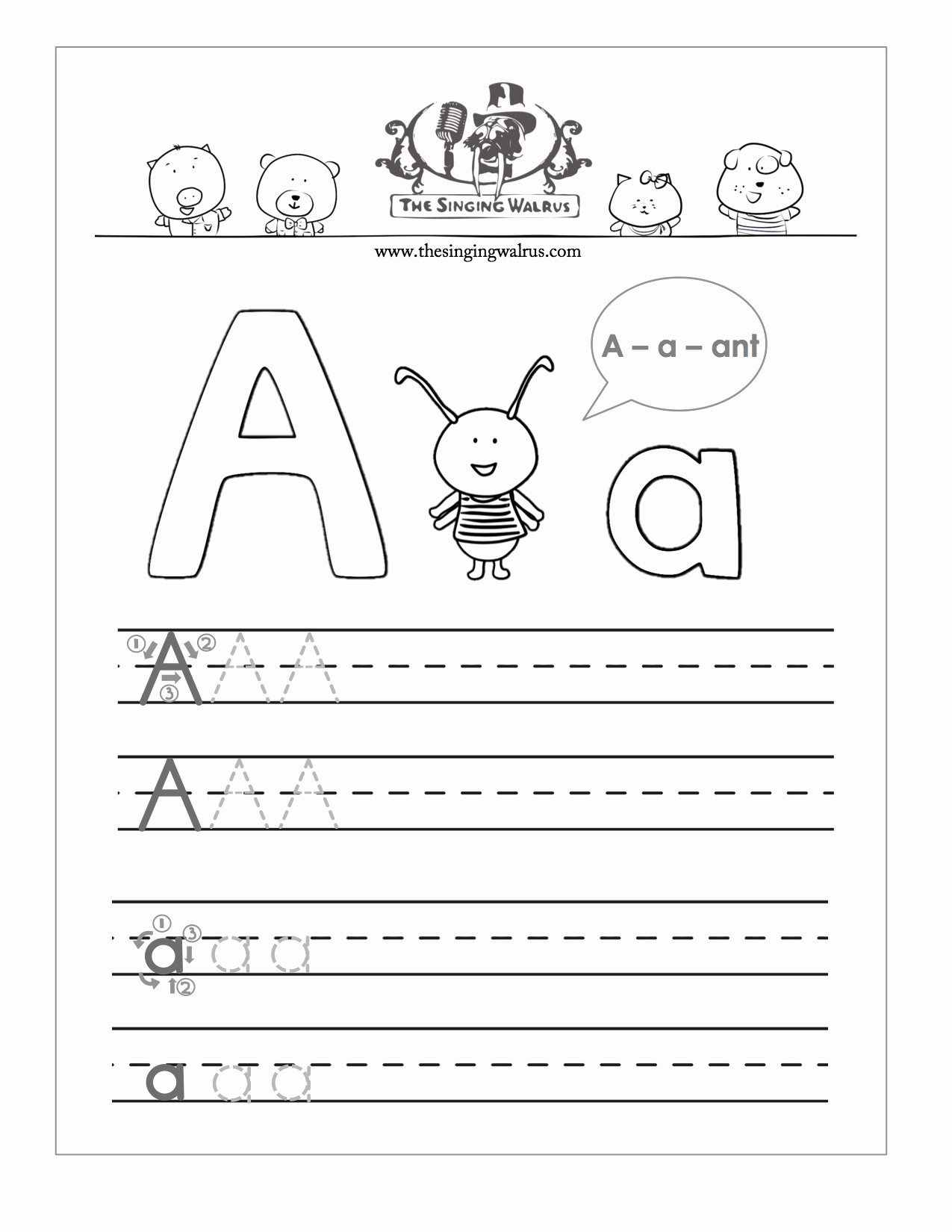 Lined Sheets for Handwriting Practice Inspirational Free Printable Preschool Alphabet Handwriting Worksheets
