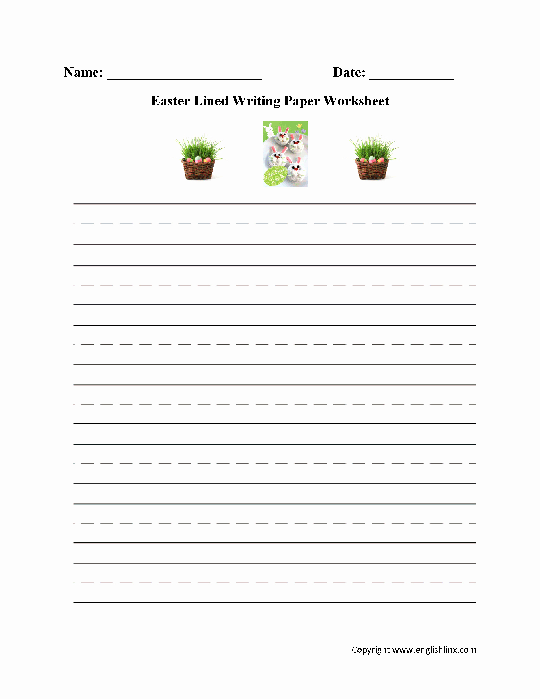 Lined Sheets for Handwriting Practice Luxury Lined Writing Paper for Third Grade School Printable