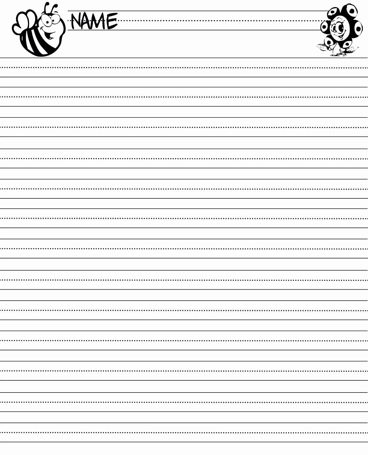 Lined Sheets for Handwriting Practice New Printable Printable Handwriting Worksheets for Kids