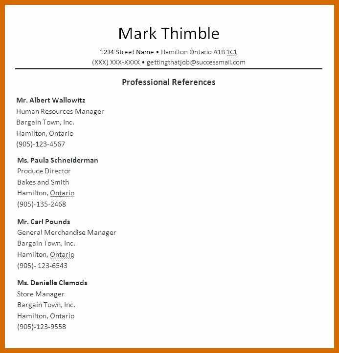 List Of Personal References Template Beautiful 1 2 Reference List Samples