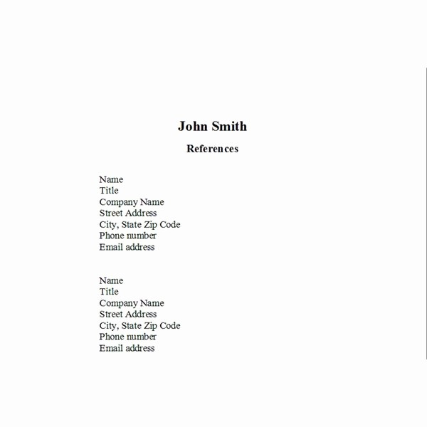 List Of Personal References Template Fresh How to format A List Of Job References A Checklist and