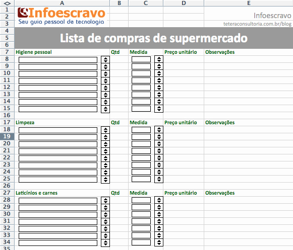 Lista De Compras Supermercado Excel Best Of Lista De Pras Download Cr55 Ivango