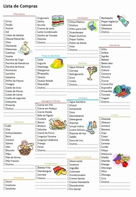 Lista De Compras Supermercado Excel Best Of Lista De Pras Supermercado Página 2