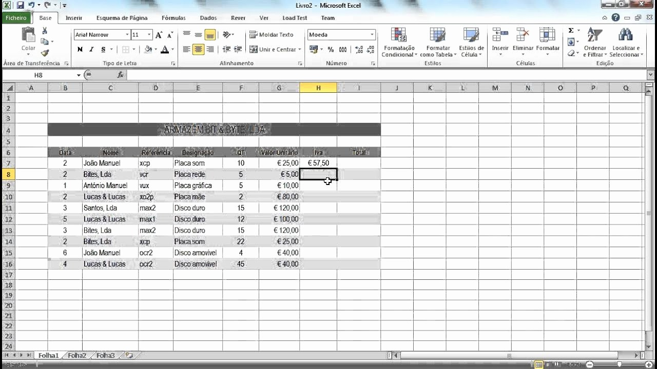 Lista De Compras Supermercado Excel Elegant Excel Aula 7 Utilização De Fórmulas Lista De Pras