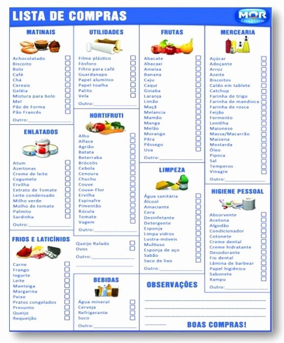 Lista De Compras Supermercado Excel Elegant Planeje as Pras De Supermercado E Evite Frutações E
