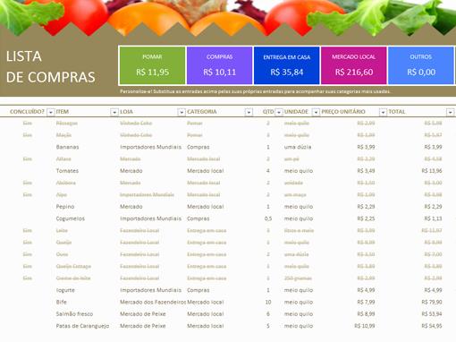 Lista De Compras Supermercado Excel Inspirational Controle Seus Gastos E Faça Seu orçamento No Excel