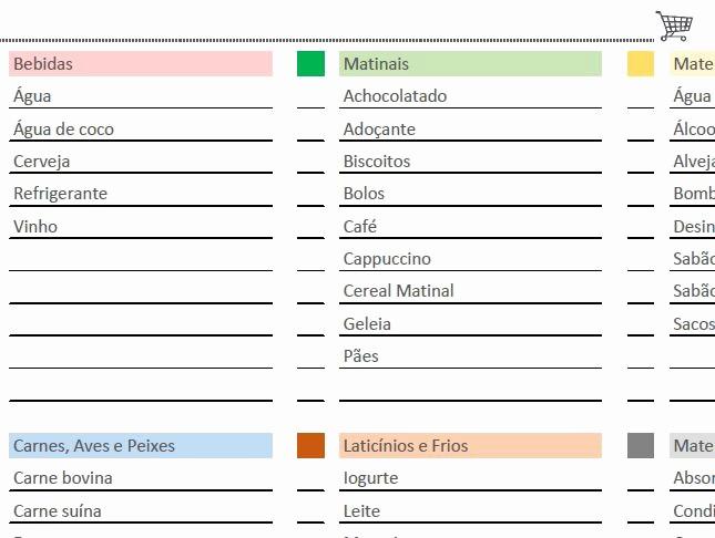 Lista De Compras Supermercado Excel New 25 Melhores Ideias De Listas De Pras De Supermercado