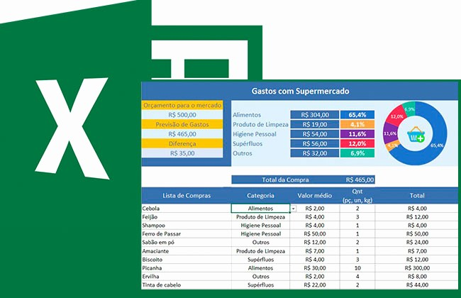Lista De Compras Supermercado Excel New Planilha Lista De Pras No Excel 5 0