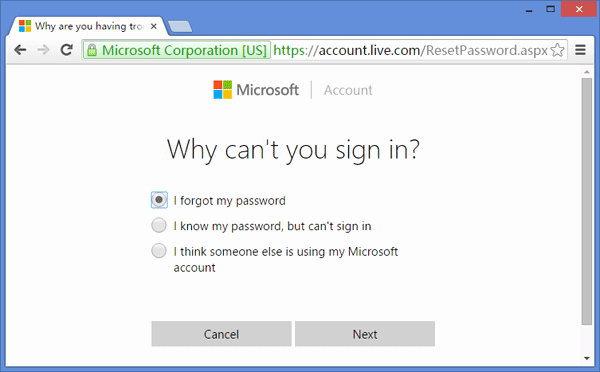 Live Com Login Email Account Best Of How to Recover Microsoft Account Password In Windows 10