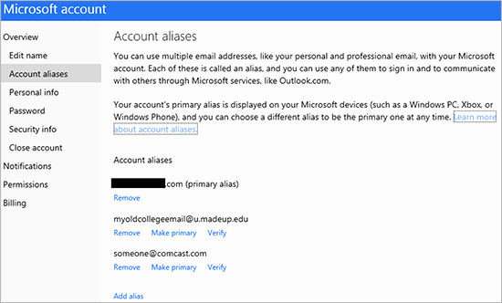 Live Com Login Email Account New A Better Way to Manage Aliases and Primary Email Address