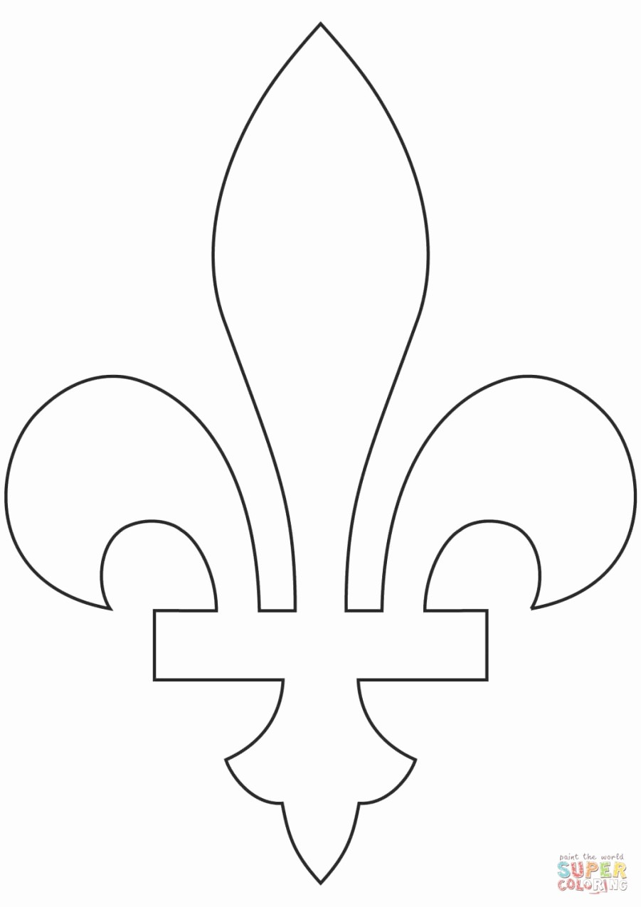 Live Com Sign In Page Awesome Innovative Saints Fleur De Lis Coloring Page Frrench Free
