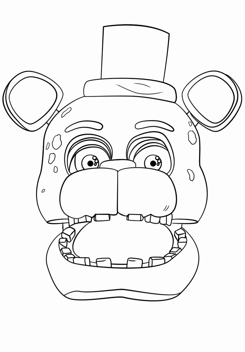 Live Com Sign In Page Lovely Exclusive Freddy Fazbear Coloring Page Print Fnaf Five