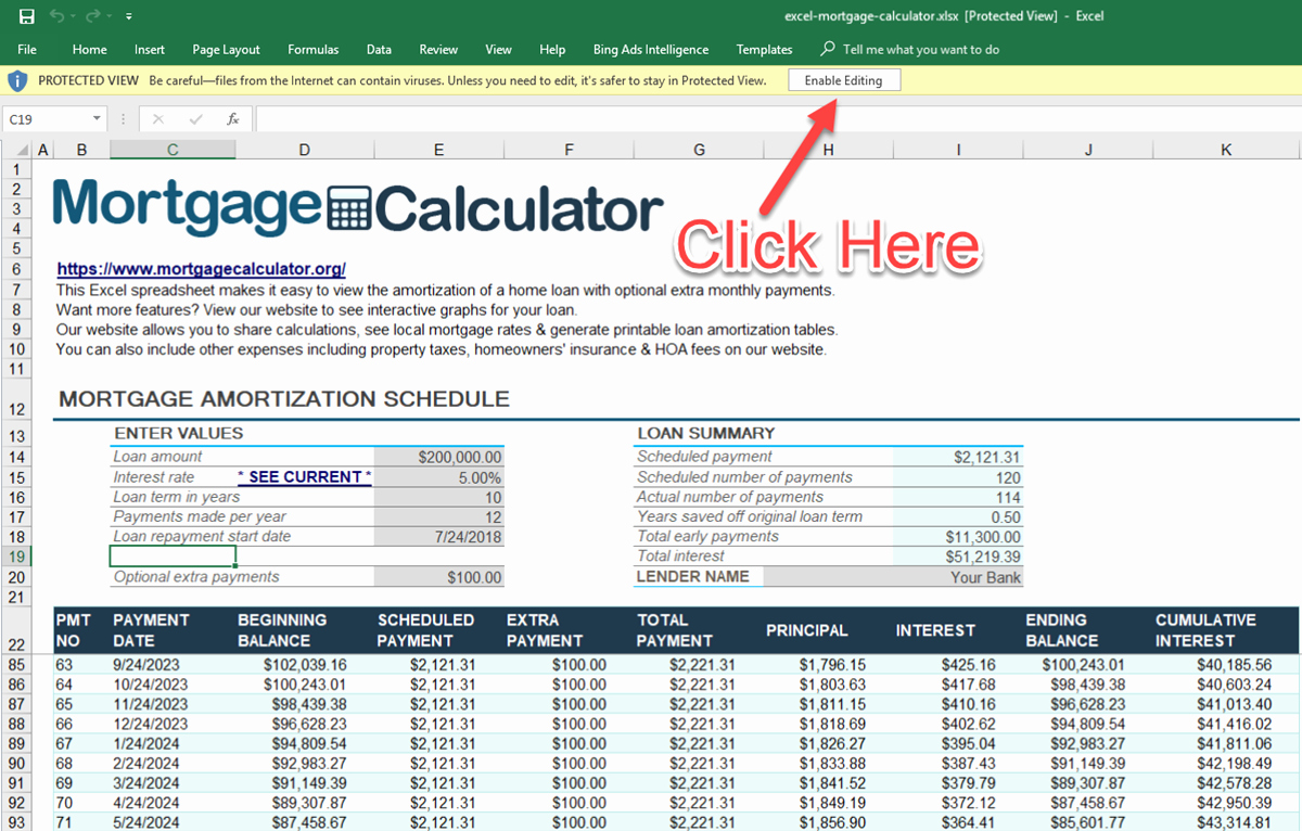 Loan Amortization Calculator Extra Payments Luxury Download Microsoft Excel Mortgage Calculator Spreadsheet