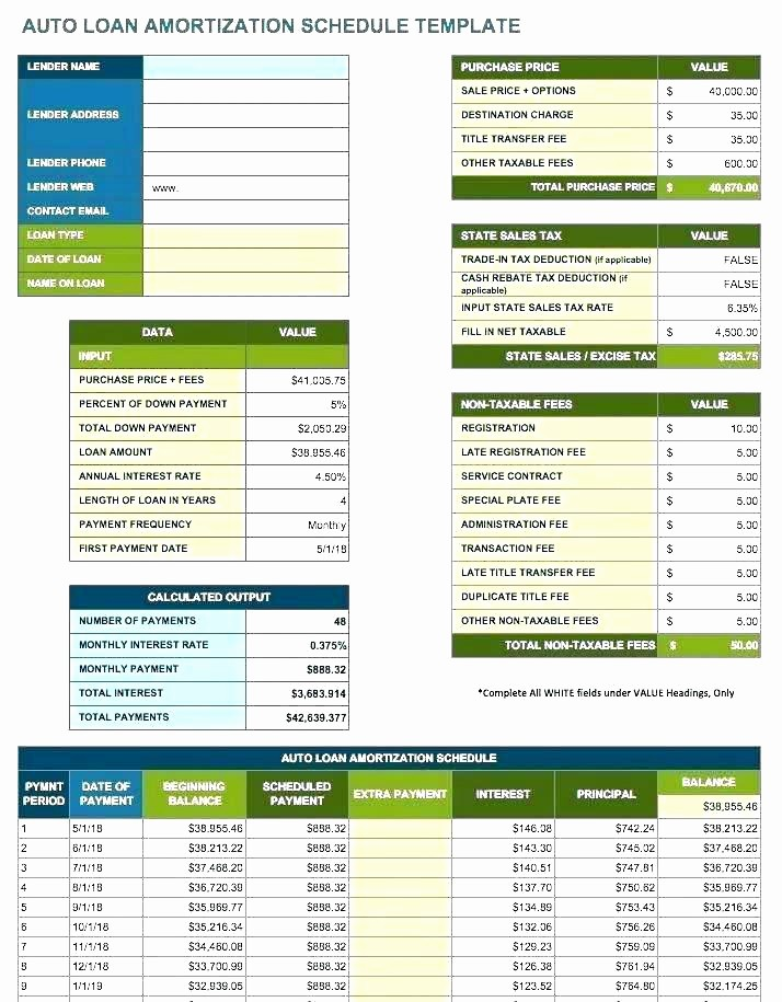 Loan Amortization Calculator with Balloon Awesome Vehicle Lease Agreement Template 9 Free Documents Download