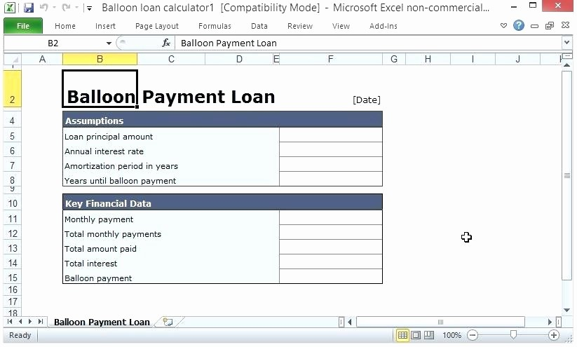 Loan Amortization Calculator with Balloon Best Of Loan Amortization Calculator Excel Template