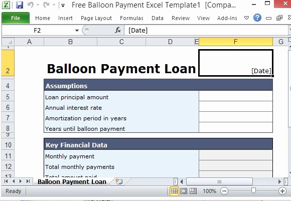Loan Amortization Calculator with Balloon Elegant Excel Loan Amortization Schedule with Balloon Payment