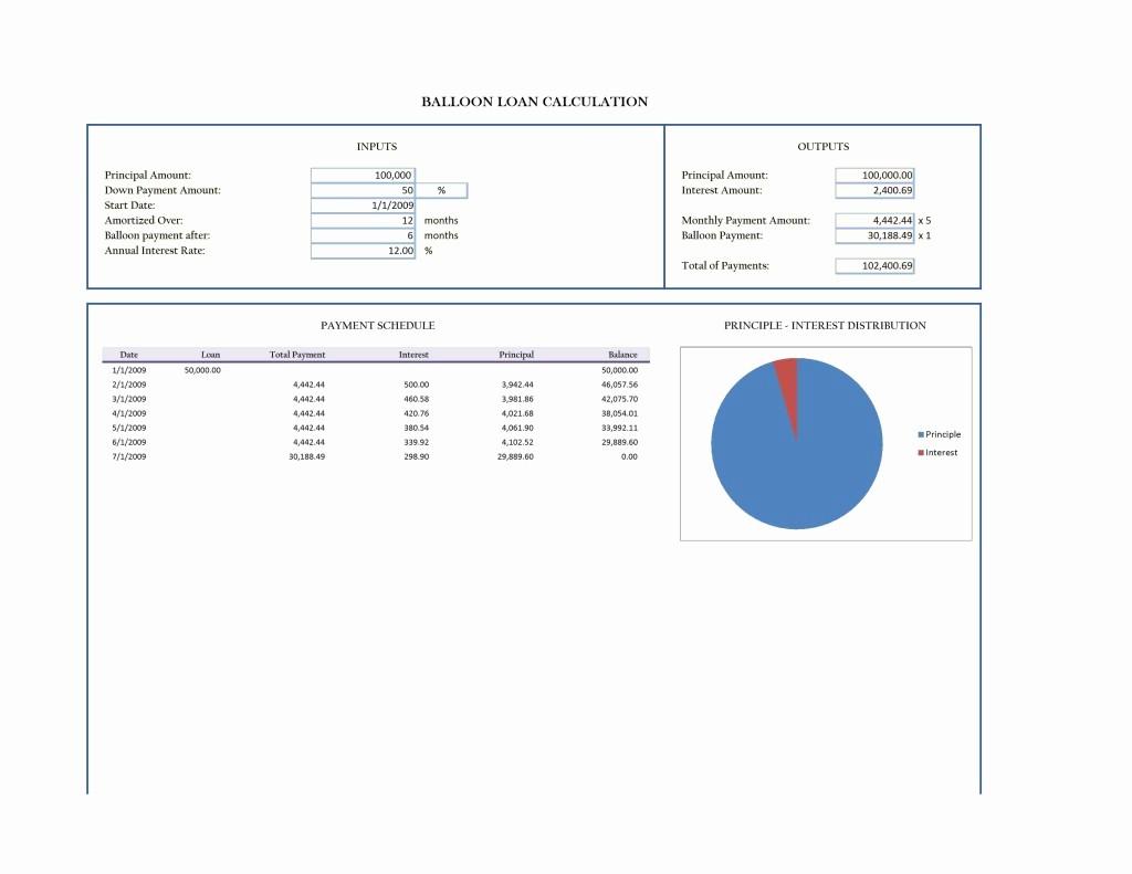 Loan Amortization Calculator with Balloon New Balloon Mortgage Balloon Mortgage Amortization Schedule