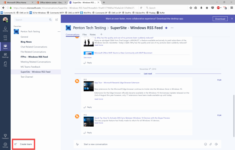 Log In to Microsoft 365 Fresh Quick Tip How to Create A Team In Microsoft Teams