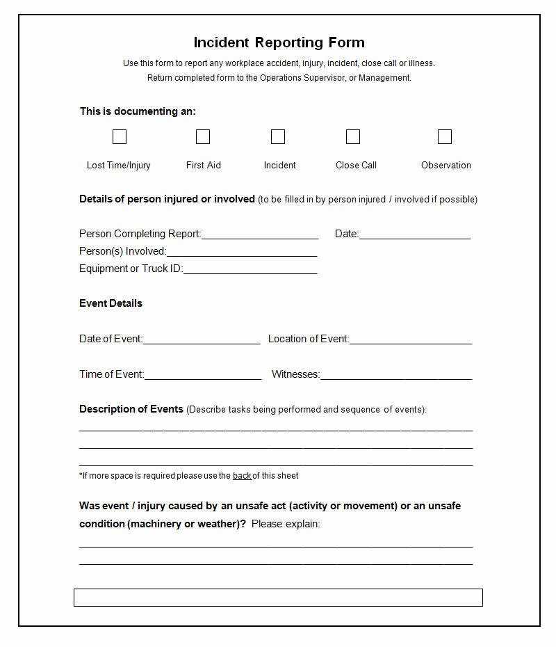Lost and Found form Sample Fresh 37 Incident Report Templates Pdf Doc Pages