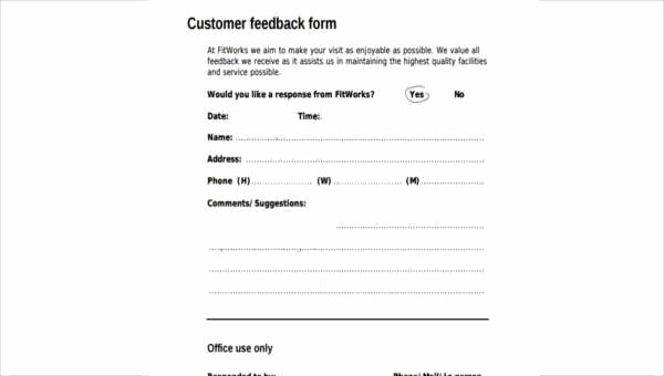Lost and Found form Sample Luxury Sample Hotel Feedback forms 7 Free Documents In Word Pdf