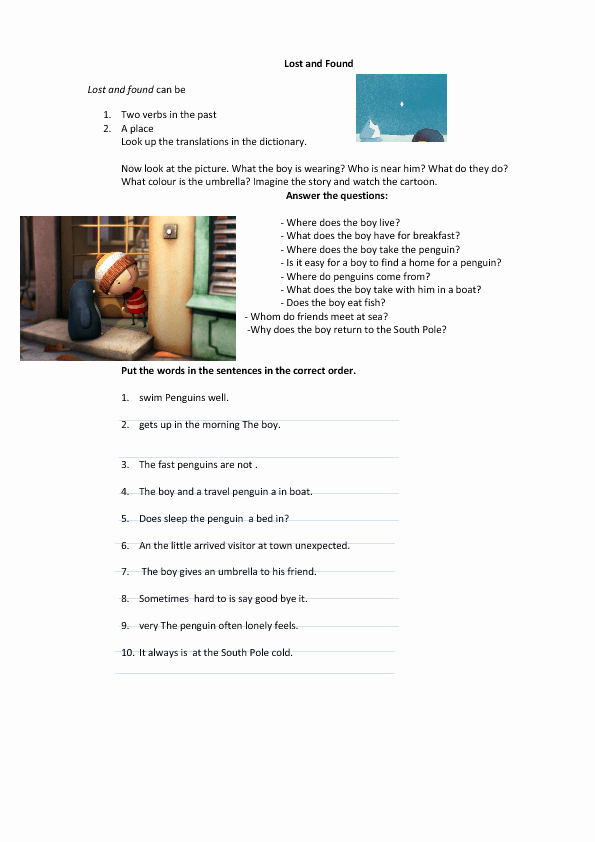 Lost and Found Log Book Awesome 101 Free Word order Worksheets