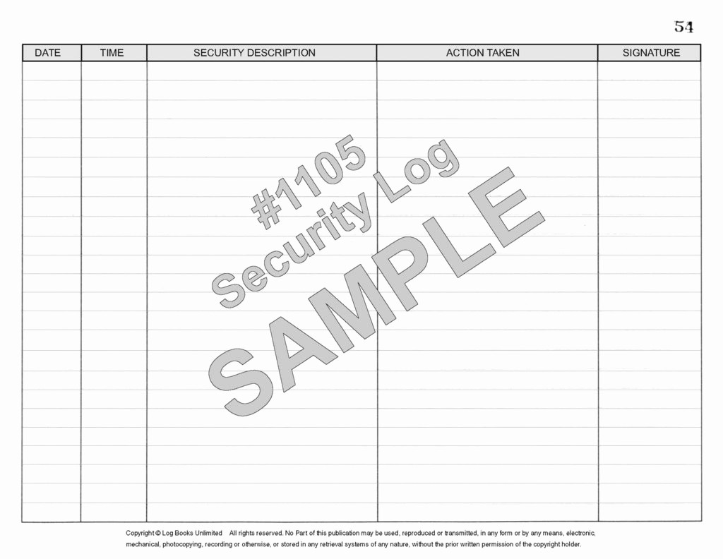 Lost and Found Log Book Fresh Security Log Book 1105