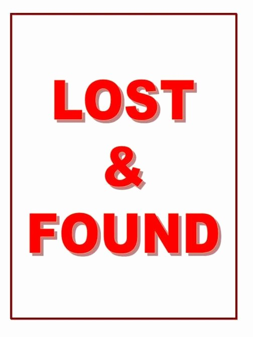 Lost and Found Sign Template Luxury Thrifty Thursday Walt Disney World Lost and Found
