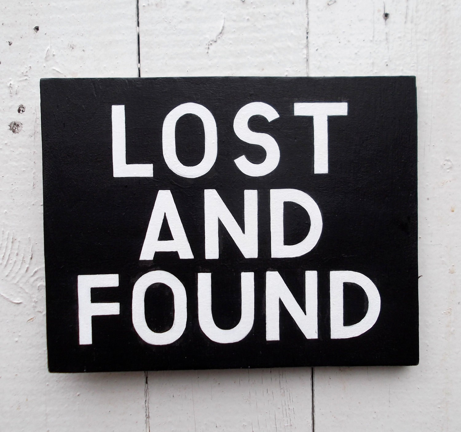 Lost and Found Sign Template New Lost and Found Hand Painted Sign On Wood