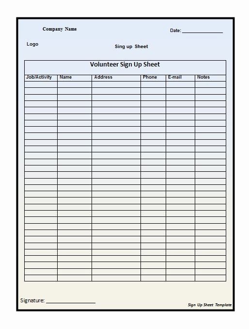 """Lost and Found Sign Template Unique Search Results for """"excel Template for Sign Up Sheet"""