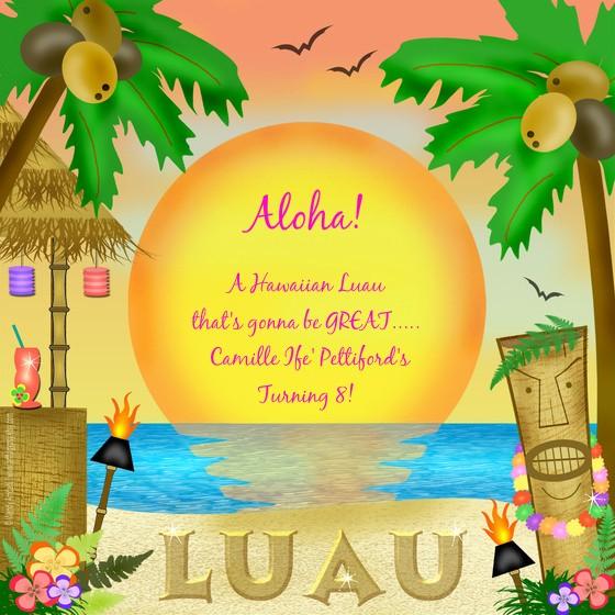 Luau Party Invitations Templates Free Awesome Hawaiian Tiki Wallpaper Wallpapersafari