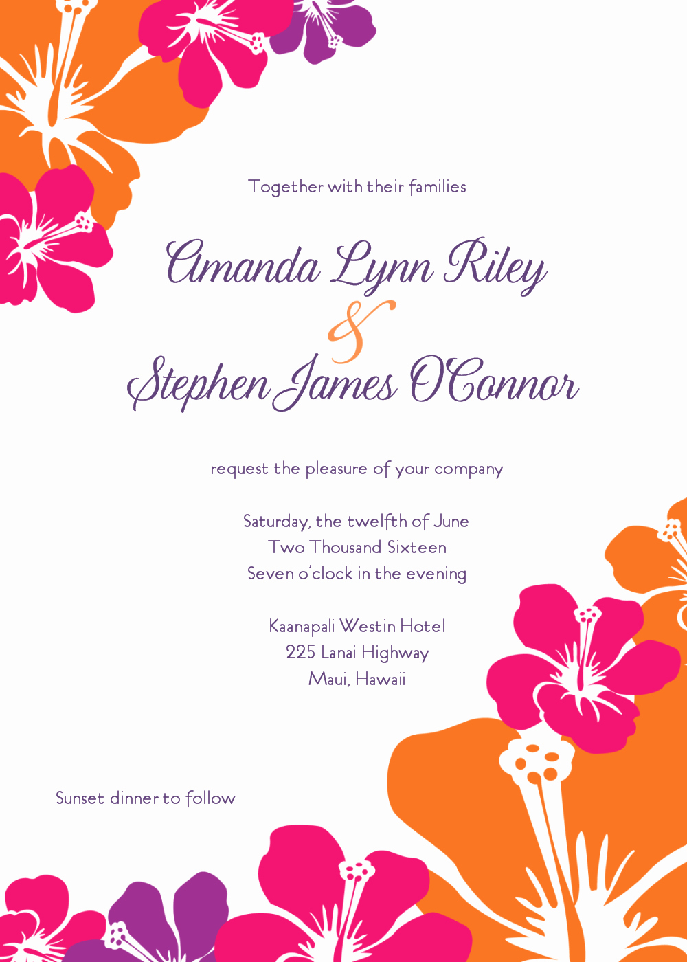 Luau Party Invitations Templates Free Beautiful 8 Best Of Luau Template Free Printable Stationery
