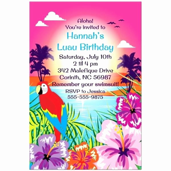 Luau Party Invitations Templates Free Beautiful Luau Flyer Template Invitation Templates Party Invitations
